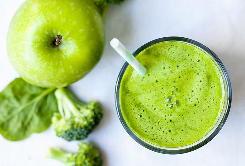Seis smoothies con brócoli