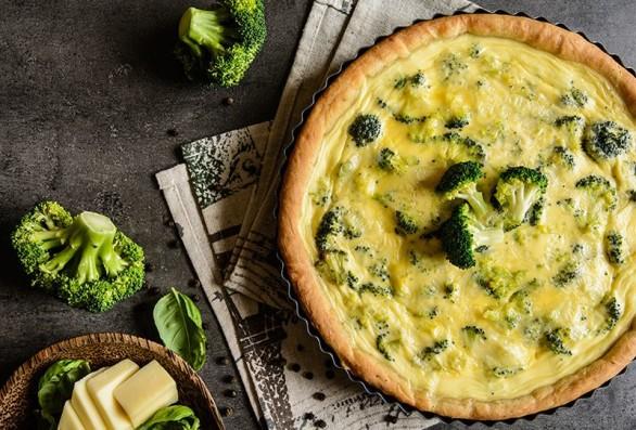 Delicioso pastel de brócoli