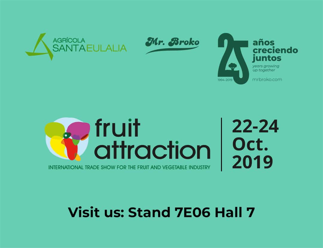 Agrícola Santa Eulalia will be once again at Fruit Attraction 2019