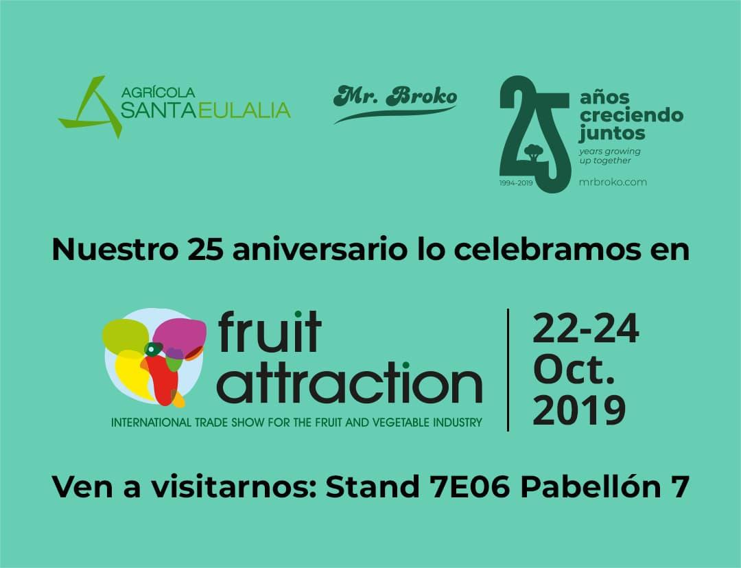 Agrícola Santa Eulalia estará de nuevo presente en Fruit Attraction 2019
