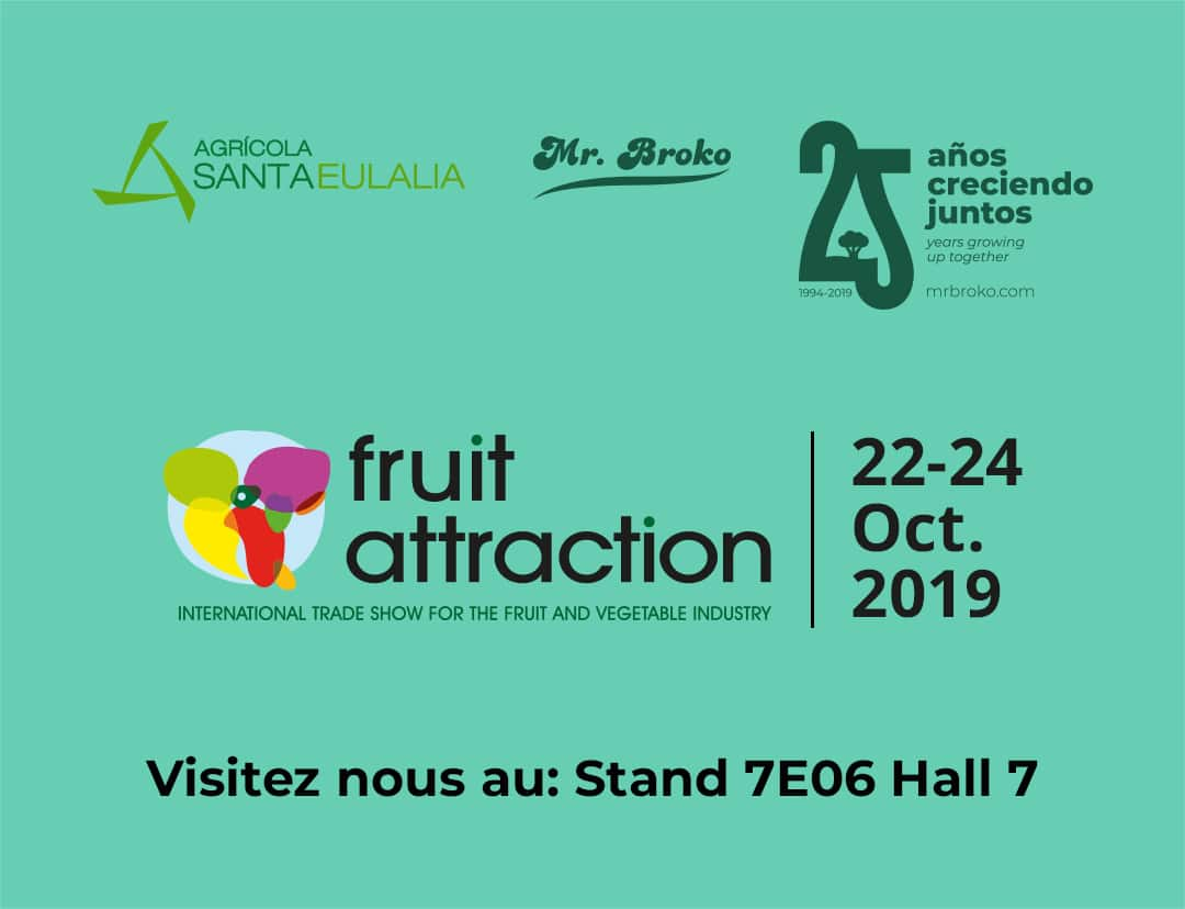 Agrícola Santa Eulalia sera à nouveau présente en FruitAttraction 2019