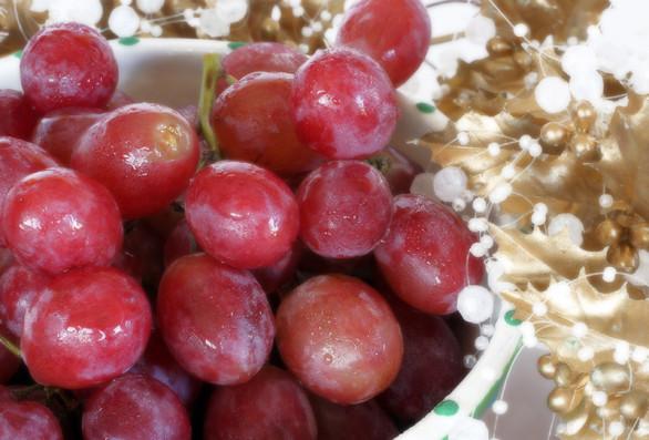 uvas de Navidad